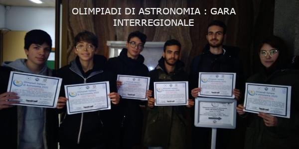 Olimpiadi di Astronomia : gara interregionale
